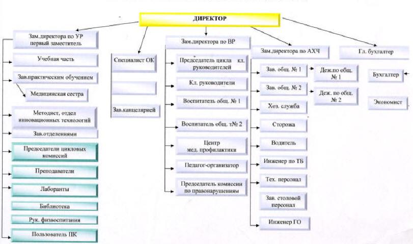 Схема организационной структуры.